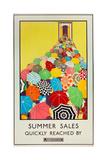 Summer Sales, Quickly Reached by Underground, 1925 Giclee-trykk av Mary Koop