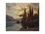 Sunset at an Upper Italian Lake, 1929 Reproduction procédé giclée par Iwan Choultse