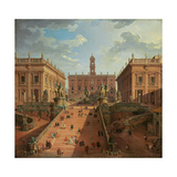 View of the Campidoglio, Rome, 1750 Giclee Print by Giovanni Paolo Pannini