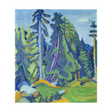 The Mountain Forest Giclée-tryk af Ernst Ludwig Kirchner