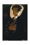 Self-Portrait with Peacock Vest Standing, 1911 Giclée-tryk af Egon Schiele