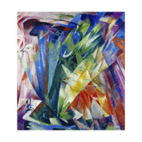 Birds, 1914 Giclee Print by Franz Marc