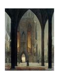 Cathedral in Winter, 1821 Giclée-Druck von Ernst Ferdinand Oehme