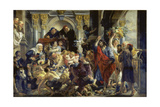 Christ Driving the Merchants from the Temple Giclee-trykk av Jacob Jordaens
