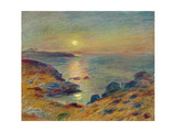 Sunset at Douarnenez, Ca, 1883 Giclee Print by Pierre-Auguste Renoir