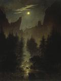 Uttewalder Grund, C. 1825 Giclée-tryk af Caspar David Friedrich