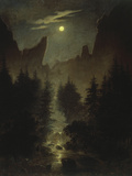 Uttewalder Grund, C. 1825 Giclee Print by Caspar David Friedrich