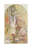 Salambo, 1897 Giclée-tryk af Alphonse Mucha
