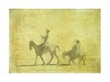 Don Quixote and Sancho Pansa Lámina giclée por Honoré Daumier