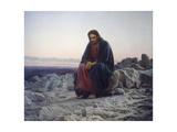 Christ in the Desert, 1872 Giclée-tryk af Iwan Kramskoi
