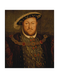 King Henry Viii, of England Reproduction procédé giclée par Hans Holbein the Younger