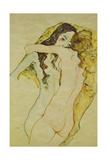 Zwei Frauen in Umarmung, 1911 Giclée-tryk af Egon Schiele