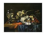 Stilleben Mit Hummer, Roemer, Muscheln Und Fruechten Giclée-Druck von Cornelis de Bryer