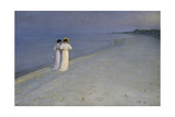 Summer Evening at Skagen (Anna Ancher and Marie Kroyer on the Beach at Skagen), 1893 Giclee-trykk av Peter Severin Kroyer