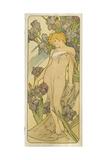 """Iris, (Aus Der Serie Von Dekorationstafeln """"Blumen), 1898 Lámina giclée por Alphonse Mucha"""