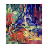 Deer in the Forest II, 1914 Giclée-Druck von Franz Marc