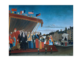 The Representatives of Foreign Powers Coming to Salute the Republic, 1907 Giclée-tryk af Henri Rousseau
