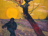 The Sower at Sunset, 1888 ジクレープリント : フィンセント・ファン・ゴッホ
