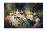 Empress Eugenie (1826-1920) Surrounded by Her Ladies-In-Waiting, 1855 Giclée-vedos tekijänä Franz Xaver Winterhalter