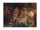 The Coronation of Charlemagne Giclée-Druck von Friedrich August Von Kaulbach