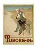 Advertising Poster for Tuborg Beer, 1900 Gicléedruk van  Plakatkunst