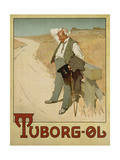 Advertising Poster for Tuborg Beer, 1900 Gicléetryck av  Plakatkunst
