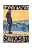 St, Moritz, 1911 Giclée-tryk af Walter Kupfer
