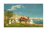 View of Algiers (Paysage D'Alger), 1880 Giclee-trykk av Henri Rousseau