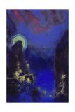 Die Hl, Jungfrau Mit Dem Heiligenschein Giclee Print by Odilon Redon