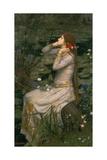 Ofelia, 1894 Lámina giclée por John William Waterhouse