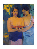 Two Woman from Tahiti, 1899 Giclée-tryk af Paul Gauguin