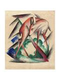 Deer, 1912 Giclée-tryk af Franz Marc