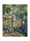 In the Park of Chateau Noir Reproduction procédé giclée par Paul Cézanne