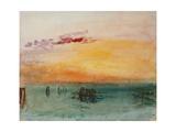 Venedig, View from Fusina, 1840 Giclée-tryk af J. M. W. Turner