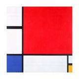 Composition with Red, Yellow and Blue, 1930 Reproduction procédé giclée par Piet Mondrian