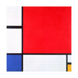 Composition with Red, Yellow and Blue, 1930 Giclee-trykk av Piet Mondrian
