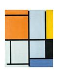 Composition 1921 Reproduction procédé giclée par Piet Mondrian