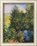 Corner of the Garden at Montgeron Poster di Claude Monet