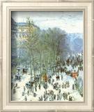 Boulevard des Capucines, c.1873 Stampa di Claude Monet