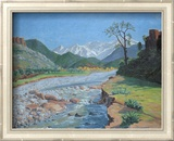 Valley of the Ourika Art by Sir Winston Churchill
