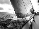 Wellen Bedruckte aufgespannte Leinwand von  PhotoINC