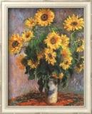 Girasoli Poster di Claude Monet