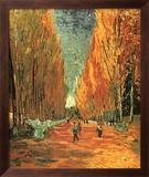 Allee des Alycamps Poster di Vincent van Gogh