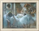 Dancers at Rest Kunst af Edgar Degas