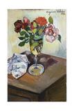 Bouquet of Roses in a Glass, 1926 Reproduction procédé giclée par Suzanne Valadon