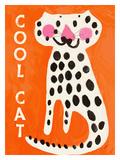Le chat cool Reproduction procédé giclée par Lisa Weedn