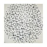 Komposition Mit Linien, 1916 Gicléedruk van Piet Mondrian