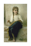 Little Girl Sewing, 1898 Giclee Print by William Adolphe Bouguereau