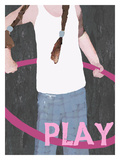 Play (Girl) Lámina giclée por Lisa Weedn