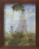 Woman with Parasol and Child Stampe di Claude Monet